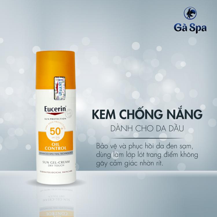 Kem chống nắng kiềm dầu Eucerin Sun Gel Cream Oil Control SPF 50+