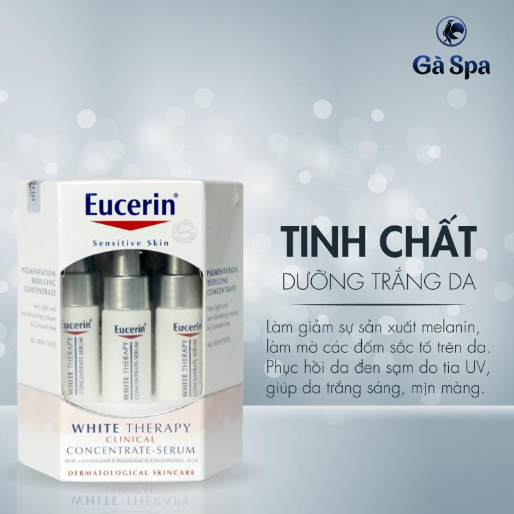Bộ Sản phẩm Trắng Da tinh chất Serum Eucerin White Therapy Concentrate 6 lọ x 5ml